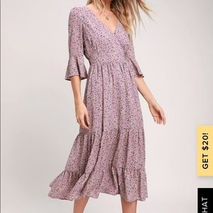 Where the Wind Blows Floral Print Dress